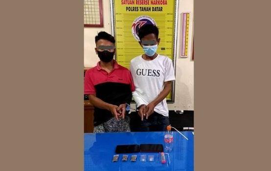 Polres Tanah Datar Tangkap Dua Pemuda, BB Sabu dan Ganja
